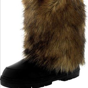 Shoes - Rabbit fur winter boots